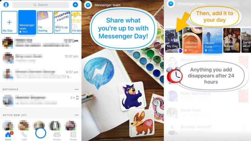 Facebook testa Messenger Day, seu mais novo clone do Snapchat