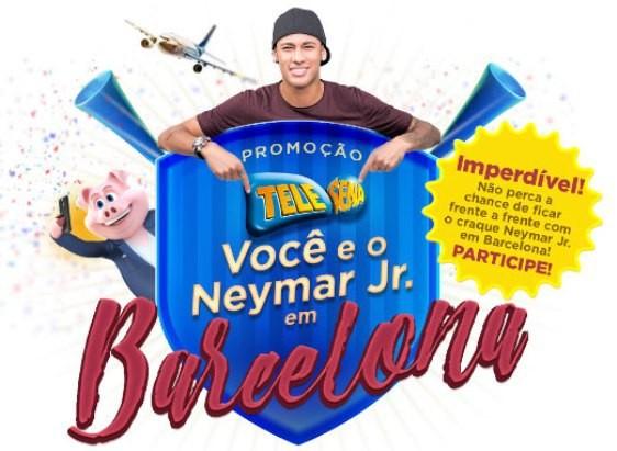Promoção da Tele-Sena Você e o Neymar Jr. em Barcelona