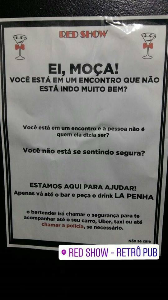 Bar De Sp Cria Drink La Penha Para Salvar Mulheres De Assédio