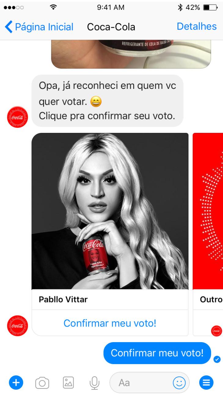 Ingresso Para Assistir Vai Que Cola Amazing coca-cola coloca chatbot para engajamento com a promoção fan feat