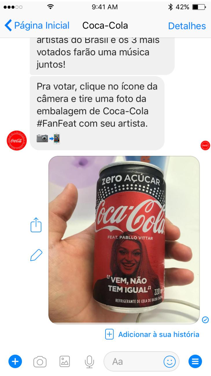 Ingresso Para Assistir Vai Que Cola Awesome coca-cola coloca chatbot para engajamento com a promoção fan feat