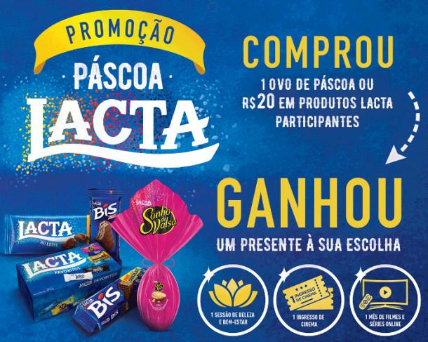 98cdcc264e Desta vez, a Lacta, marca da Mondelez é que irá fazer a alegria dos seus  consumidores com a ação de marketing promocional na modalidade 'compre e  ganhe'.