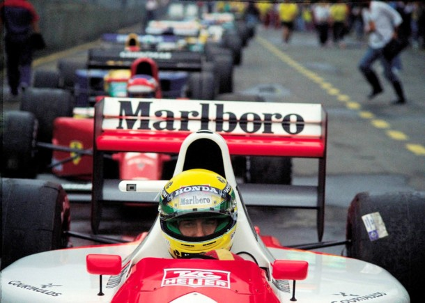 Ayrton Senna no GP Brasil de 1991
