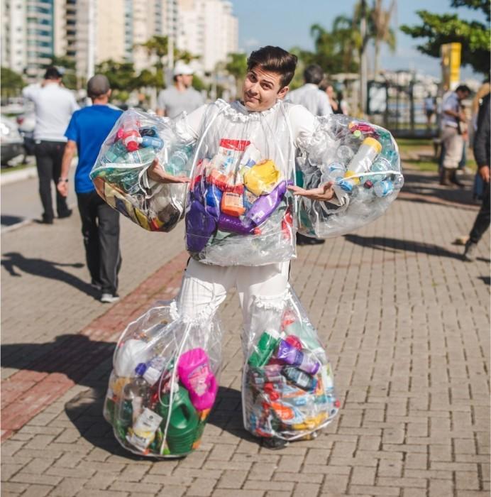 plástico oceano floripa