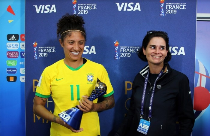 troféu Player of the Match by Visa