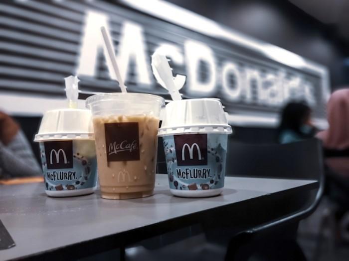 mcdonalds plástico sorvete