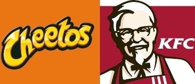 cheetos e kfc sanduíche