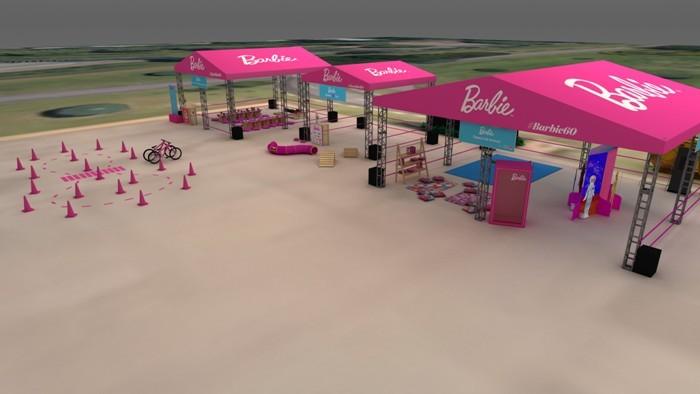 barbie evento no parque