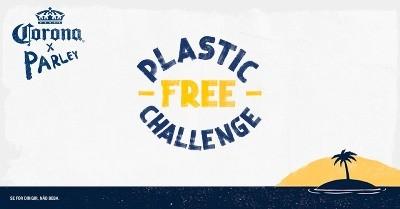 corona livre de plástico