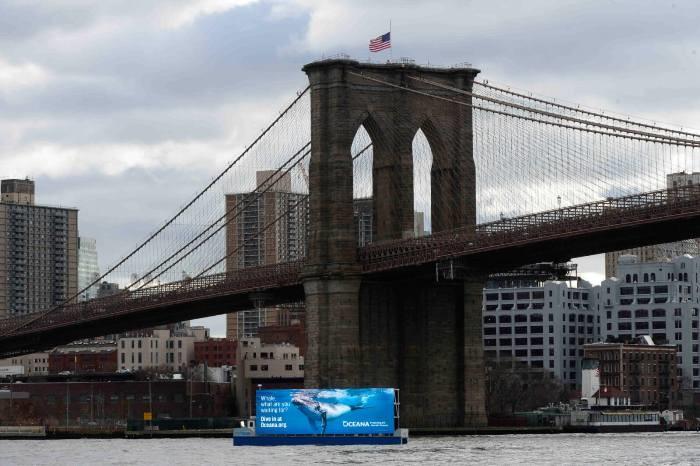 publicidade flutante NY