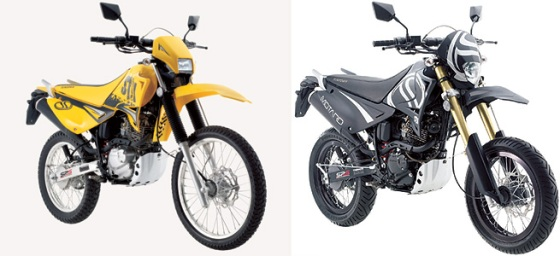 As novas STX 125 e STX Motard 125 da Sundown.