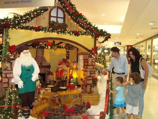 Decoração de Natal do Plaza Shopping (Foto: Manuela Malta).