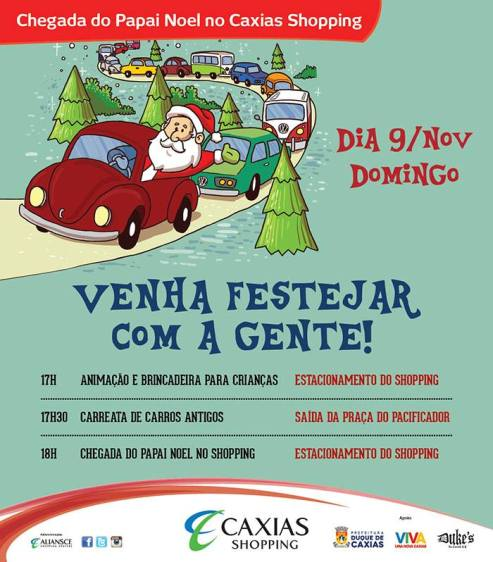 Chegada do Papai Noel caxias shopping