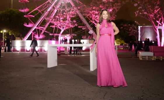 Luiza Brunet este no Parque do Ibirapuera do dia da abertura do Giro pelo Vida.