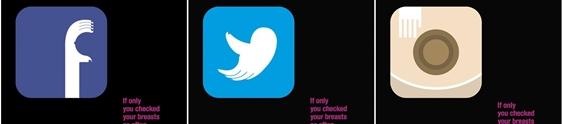 Redes sociais ganham novas logos contra o câncer de mama