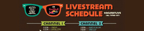 Red Bull TV transmite o Festival Austin City Limits