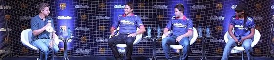 Gillette reúne ex atletas do FC Barcelona em evento