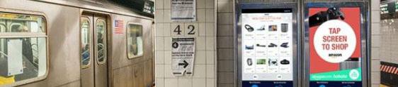 Metrô de NY ganha loja interativa da Amazon