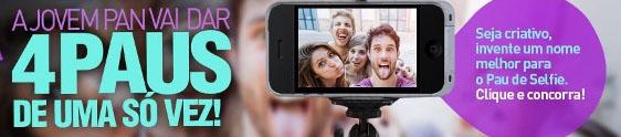 Jovem Pan entra na onda do 'pau de selfie'