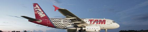 Adesivo de avião da TAM homenageia o Rio de Janeiro