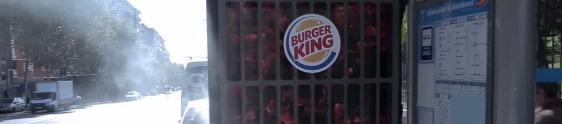 Burger King vai ao ponto de ônibus atrair clientes