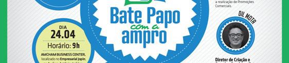 Ampro realiza bate-papo sobre criatividade e promoções