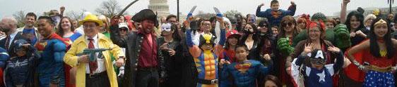 Ação de live marketing da Warner Bros. reúne super-heróis