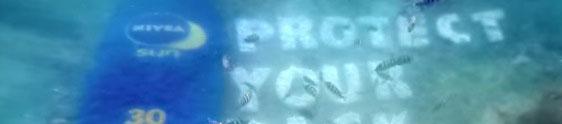 Nivea cria outdoor submarino para alertar mergulhadores