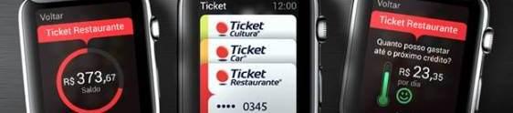 Ticket desenvolve aplicativo para Apple Watch