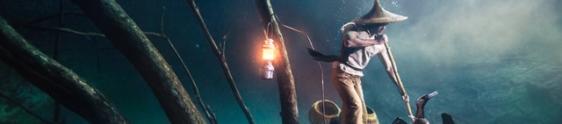 Ballantine's recria pescador chinês e sua lanterna