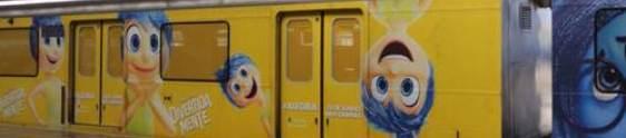 Personagens de Divertida Mente invadem o metrô de SP