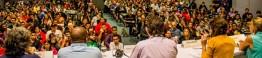 Porto Alegre, Brasil, 09/05/2014 -  Fórum Internacional do Software Livre - FISL 15 - A aprovação do Marco Civil e as consequências para a Sociedade, com Deivi Kuhn, Telma Dantas, Maria Mello, Marsolio Lima e Marcelo Branco - Foto: Guilherme Almeida