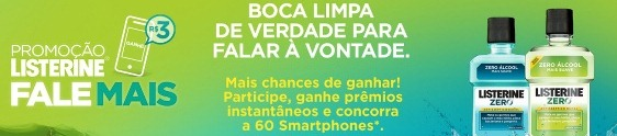 Listerine oferece bônus de celular e sorteia smartphones