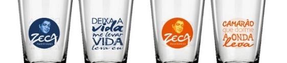 Extra lança linha de copos personalizados do Zeca Pagodinho