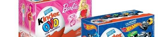 Kinder Ovo traz novas surpresas da Barbie e da Hot Wheels