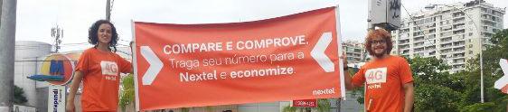 CR Marketing ativa Nextel nas ruas da Cidade Maravilhosa
